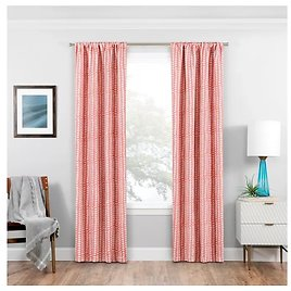 """Eclipse Naya Thermaweave Blackout Curtain Panel -Coral, 63""""x37"""""""