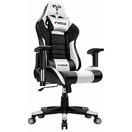 Gaming Chair White with Ultra Soft Leather Office Computer Chair Furniture Desk