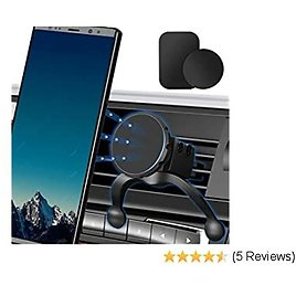 Magnetic Phone Car Mount, Air Vent Car Phone Holder Mount 360 Rotation Car Phone Mount Compatible with IPhone XS/X/X/8/8Plus/7Plus/Samsung Galaxy S9 S8 and More