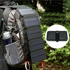 Solar Power Bank Portable Cell Phone Charger Panel Waterproof Outdoor Camping