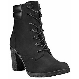Timberland Women's Tillston High Heel Black Leather Boots Style A1H1I
