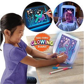 Discovery Kids Neon LED Glow Drawing Board
