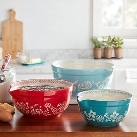 The Pioneer Woman Mazie 3-Piece Mixing Bowl Set