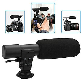 3.5mm External Stereo Microphone For Canon Nikon DSLR Camera DV Camcorder Phone 690770260935