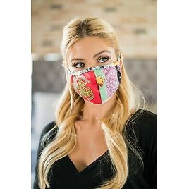 Made In USA Washable Reusable Printed Cotton Fabric Face Mouth Cover Mask