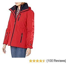 Tommy Hilfiger Women's 3 in 1 Systems Jacket with Removable Hood