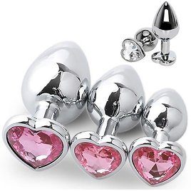 US $2.22 40% OFF 3 Size Anal Plug Heart Stainless Steel Crystal Anal Plug Removable Butt Plug Stimulator Anal Sex Toys Prostate Massager Dildo Anal Plug  - AliExpress