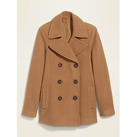 Soft-Brushed Peacoat for Women Brown