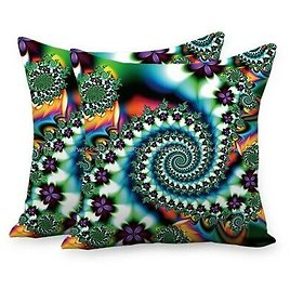 Set of 2 Trippy Psychedelic Cushion Cover Decorating Pillowcase
