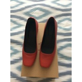 BNWB Hush Clothing Red Leather Kendall Heels Shoes Size 4 Euro 37