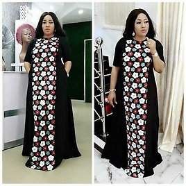 African Women Plus Size Knitted Sequin Dress Women Fashion Clothing
