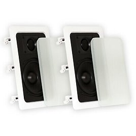 Theater Solutions TS50W Flush Mount In Wall Speakers 2-Way Home Theater Pair