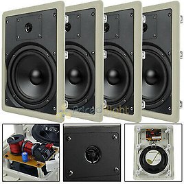 """4 Pack 6.5"""" In Wall Speakers 2 Way Home Theater 50W Rms Mtx Audio Musica602w 715442630547"""
