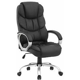 Office Chair Executive Office Desk Task Computer Chair High Back Leather 848837003487