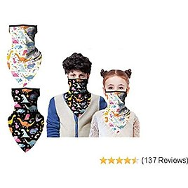 Kids Face Protector Neck Gaiter with Ear Loops, Face Cover