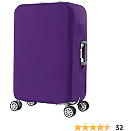 Luggage Cover, Travel Suitcase Cover Protector Elastic Cover Washable Anti-Scratch Stretchy Protector Fit for 22-25 Inch Luggage (Violet)