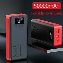 50000mAh USB External Power Bank Portable LCD LED Charger for Cell Phone US