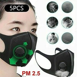 5/10PCS Outdoor Air Purifying Face Mask Carbon Filter Multi Layer Unisex