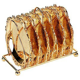 7lots Plates Cupcake Holder Tray w/ Storage Holder Stand Tableware Golden