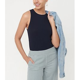 Ribbed Racerback Outfit-Making Tank | LOFT
