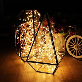 100 LED Fairy String Light, Copper Lights, Plug-In , Centerpieces, Party Lights, Outdoor Wedding, Rustic Wedding, Room Decor, Waterproof32ft