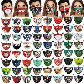 New Face Mask Reusable Washable Protective Breathable Covering Christmas Print