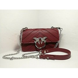Pinko Womens Bag Red Leather