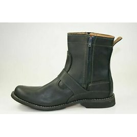 TIMBERLAND Earthkeepers Mens Black Side Zip Leather Buckle Riding Boots Sz 9.5