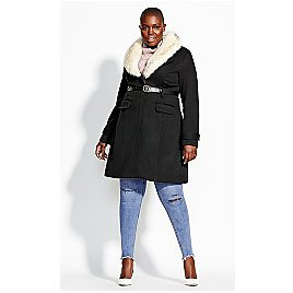 Simply Belted Coat - Black