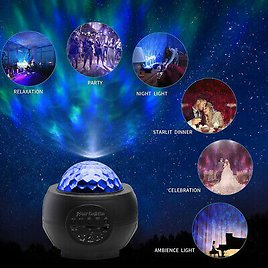 USB Bluetooth Projector Light LED Galaxy Starry Night Music Lamp Star Projection