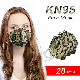 [20 Pack] KN95 Disposable Respirator Face Mask Adult Size Protective USA Seller