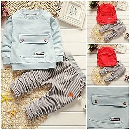 2pcs Baby Boys Clothes Cotton Pullover Top +pants Kids Boys Tracksuit Outfits