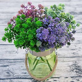US $7.74 |7 Forks 28 Heads Branch Succulent Plants Artificial Fall Leaves Flores DIY Artificiais Wedding Decoration Plant Fake Flowers|Artificial & Dried Flowers| - AliExpress