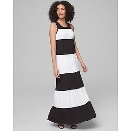 Soma Colorblock Maxi Dress with Built-In Bra
