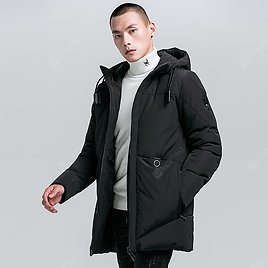 2020 Winter Hooded Young Men's Minimalist Long Section Of Thick Cotton Jacket Men Casual Men's Cotton Sale, Price & Reviews | Gearbest