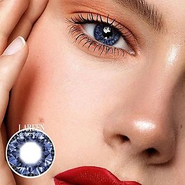 Lareen 2pcs/pair Colored Contact Lenses Diamonds Series Eye Contact Lenses Year Use Color Contact Lens for Eyes Comestic Makeup