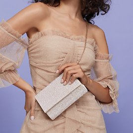 Imnaha Champagne Women's Clutches & Evening Bags | ALDO US