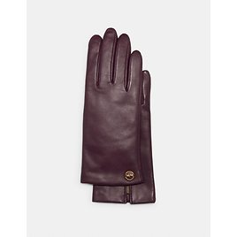 Horse and Carriage Plaque Leather Tech Gloves (2 Colors)