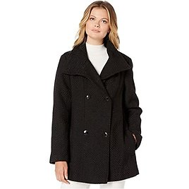 Double Breasted Peacoat with Detachable Belt