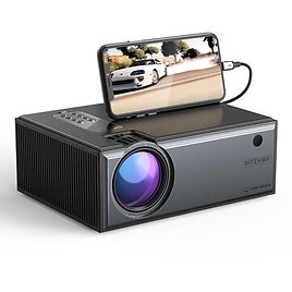 [Newest Version]Blitzwolf® BW-VP1-Pro LCD Projector 2800 Lumens Phone Same Screen Version Support 1080P Input Dolby Audio Wireless Portable Smart Home Theater ProjectorProjectors & AccessoriesfromComputers & Officeon Ba