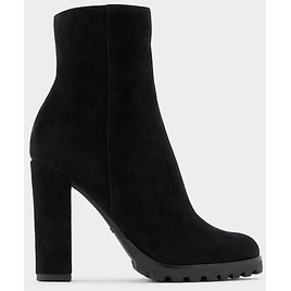 Tealith Black Leather Suede Women's Ankle Boots & Booties   ALDO US
