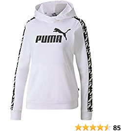 PUMA Women's Amplified French Terry Cropped Hoodie