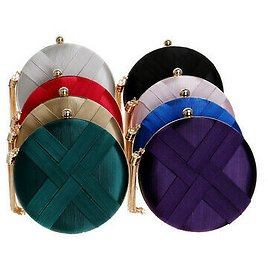 Women's Evening Bags Tassel Pendant Silk Clutch Bag for Formal Party Bridal Wed