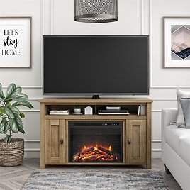 """Ameriwood Home Falls Creek Media Fireplace for TVs Up to 50"""", Multiple Colors"""