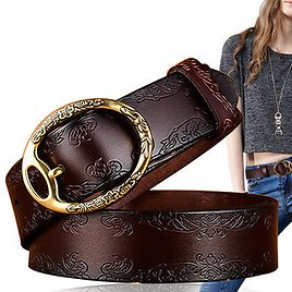 100CM Women Retro Printed Leather Carved Jeans BeltsWomen's AccessoriesfromApparel Accessorieson Banggood.com