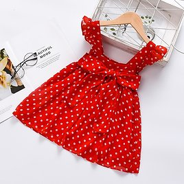 Baby Flounced Dotted Dresses