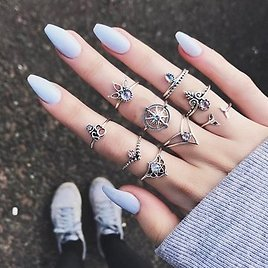 9 Pcs Vintage Statement Ring Set Helm Leaf Knuckle Rings Bohemian Jewelry for WomenJewelryfromJewelry,Watches & Accessorieson Banggood.com