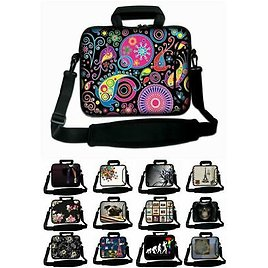 """10"""" - 17"""" LUXBURG Laptop Case Bag Cover Pouch Skin With Handle & Shoulder Strap"""