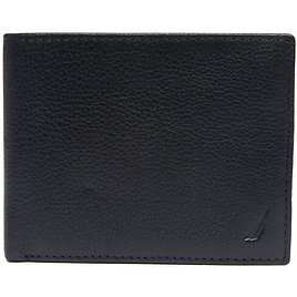 Pebbled Leather Embroidered J-Class Passcase