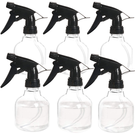 ZEJIA Plastic Spray Bottle 6 Pack 8oz Hair Sprayer Bottle Professional Empty Water Sprayer, with Adjustable Nozzle for Hair